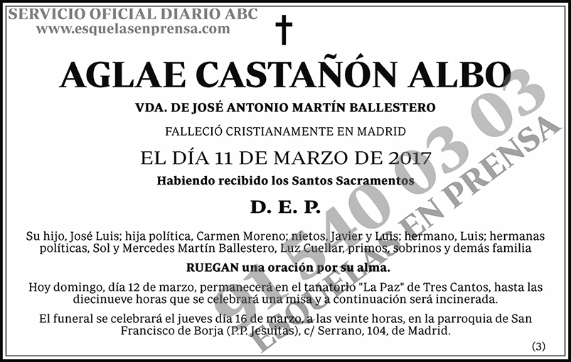 Aglae Castañón Albo